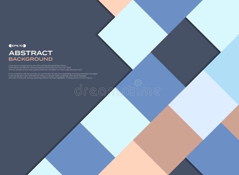 五颜六色的企业正方形样式盖子背景 库存例证