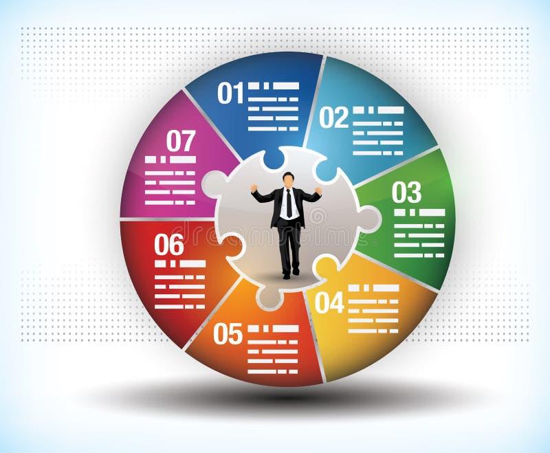 五颜六色的企业轮子图 库存例证