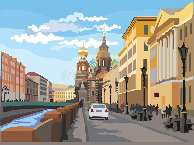 五颜六色的传染媒介圣彼德堡4 皇族释放例证