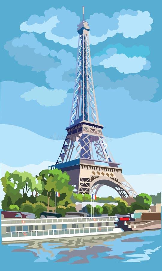 五颜六色的传染媒介巴黎1 向量例证