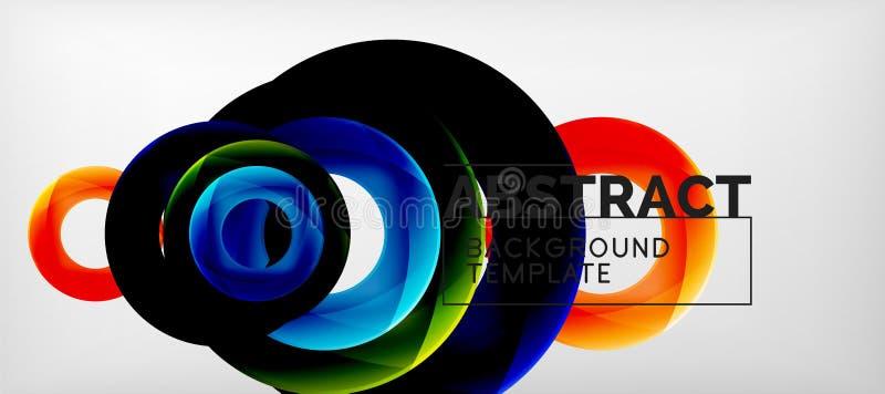 五颜六色的传染媒介敲响几何抽象背景,现代几何样式设计 事务或技术 向量例证