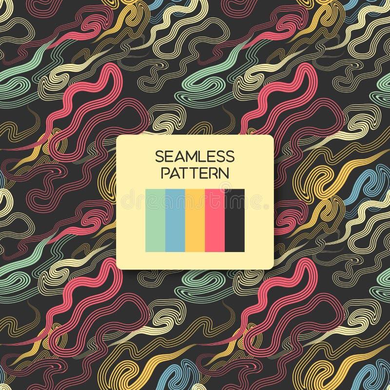 五颜六色的传染媒介无缝的抽象样式与飞溅 库存图片