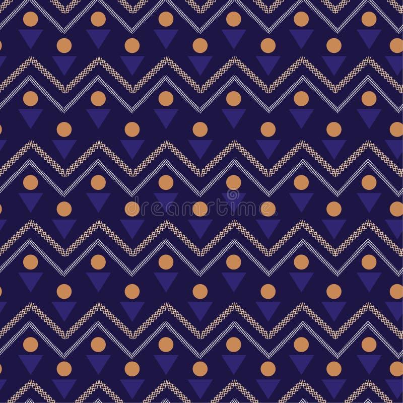 五颜六色的传染媒介无缝的样式 与geome的抽象背景 库存例证