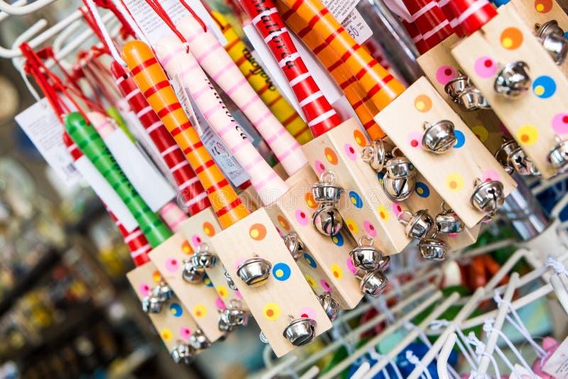 五颜六色的传统西班牙纪念品 库存图片