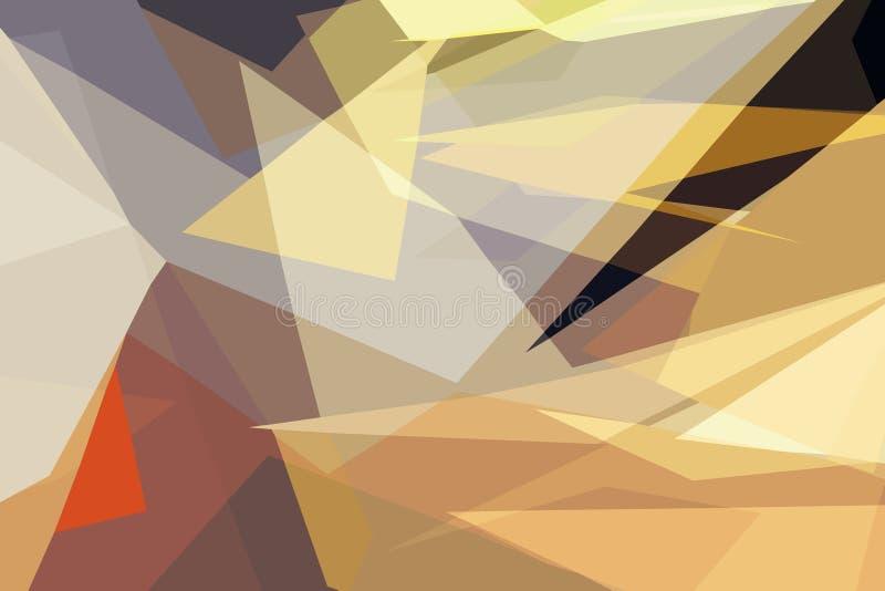 五颜六色的低多角形摘要背景,生动的三角墙纸,几何技术横幅 库存例证