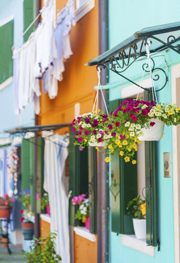 五颜六色的住宅房子在意大利 图库摄影