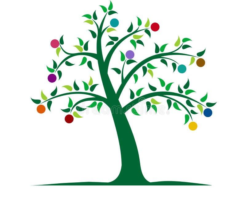 五颜六色的例证结构树 库存例证