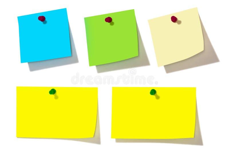 五颜六色的便条纸 免版税库存照片