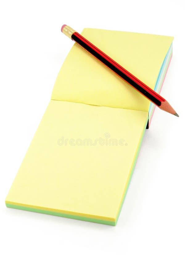 五颜六色的便条铅笔 库存照片