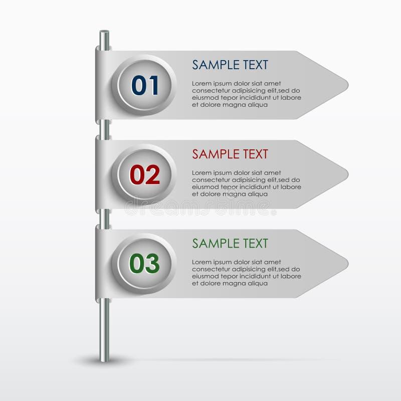 五颜六色的信息图表横幅模板 皇族释放例证