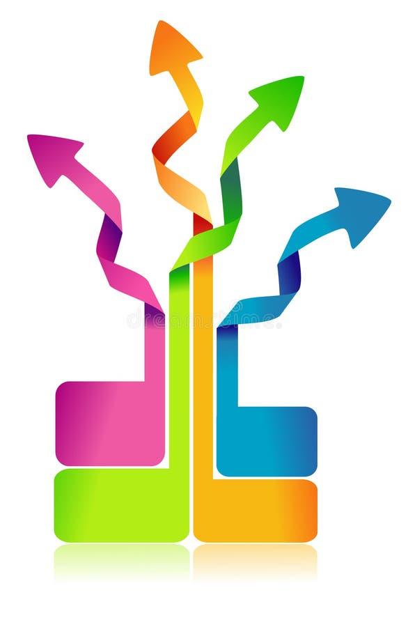 五颜六色的信息图表 库存例证