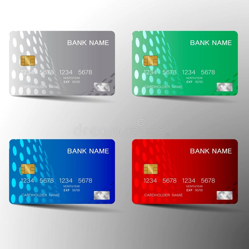 五颜六色的信用卡布景 皇族释放例证