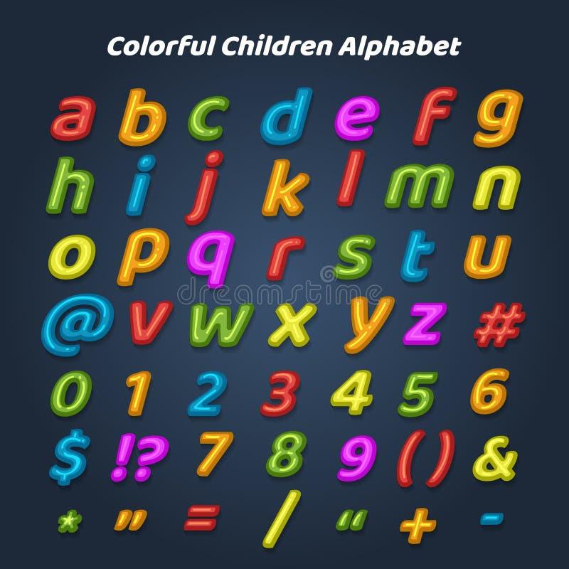 五颜六色的儿童字母表 向量例证