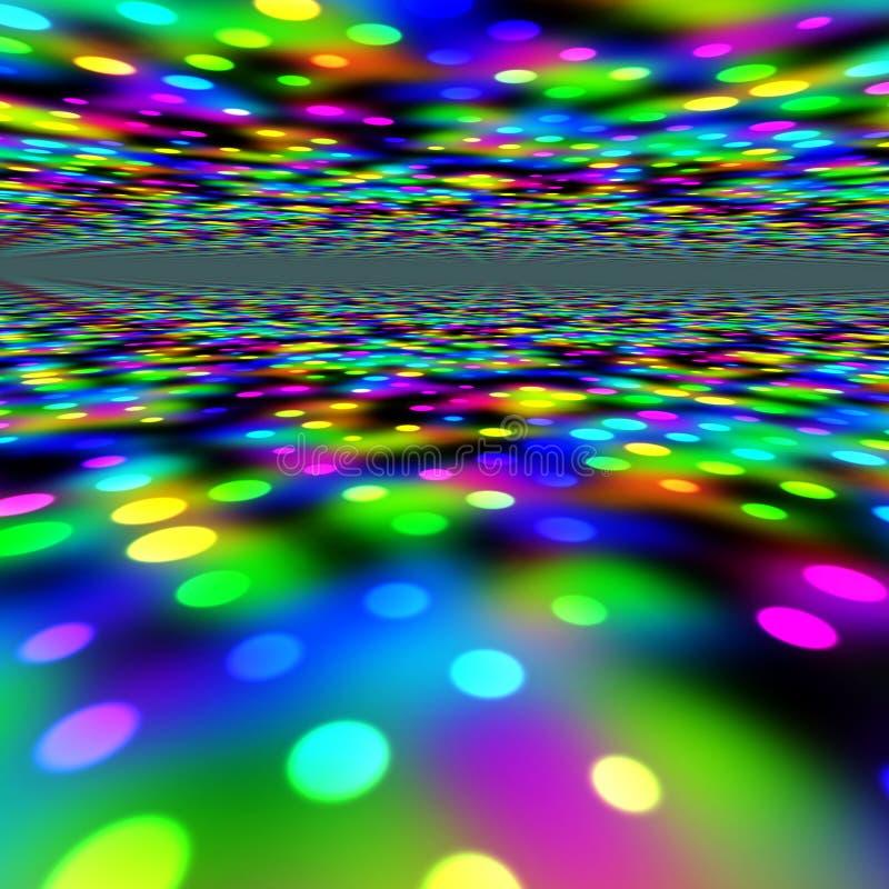 五颜六色的光当事人 向量例证