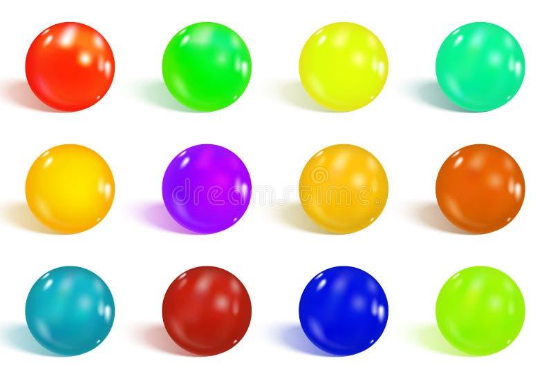 五颜六色的光滑的范围 皇族释放例证
