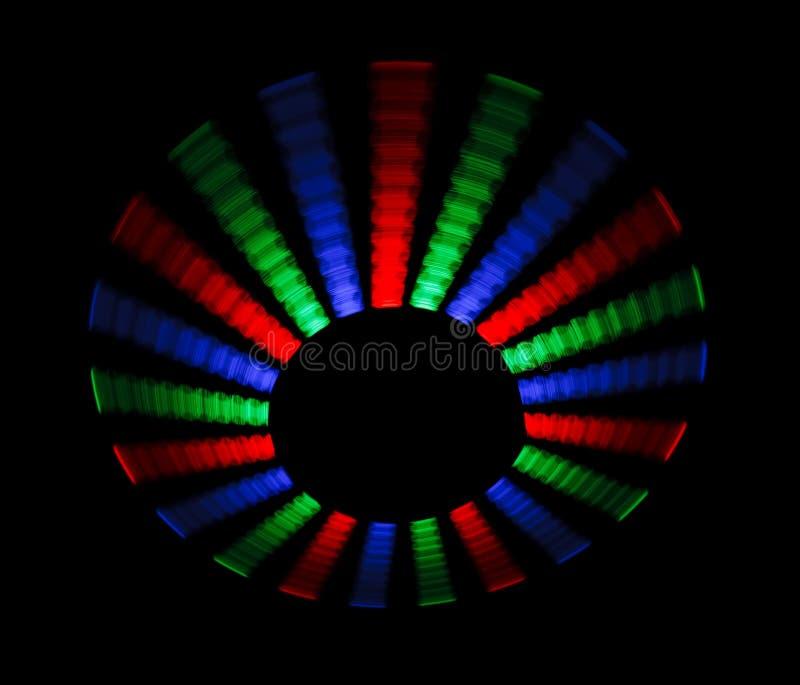 五颜六色的光盘表单导致转动的跟踪 皇族释放例证