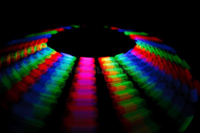 五颜六色的光盘表单导致转动的跟踪 图库摄影