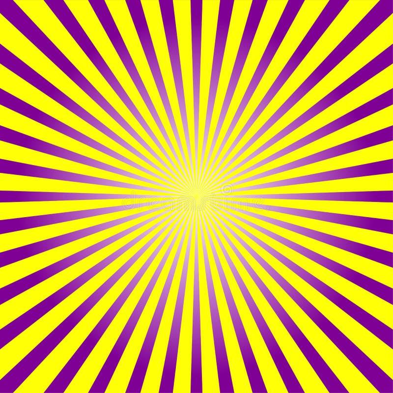 五颜六色的光芒背景 皇族释放例证