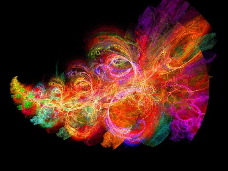 五颜六色的光芒 库存照片