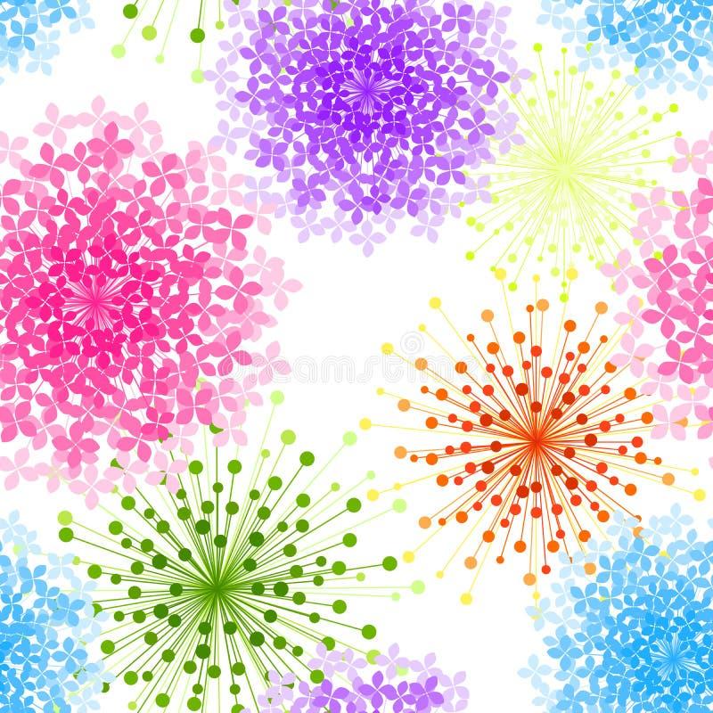 五颜六色的八仙花属花无缝的背景 皇族释放例证
