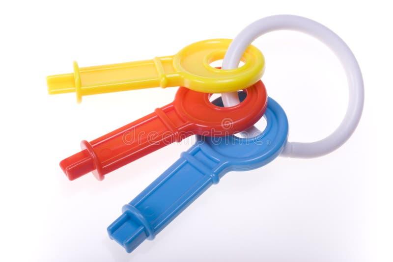 五颜六色的关键字玩具 免版税库存照片