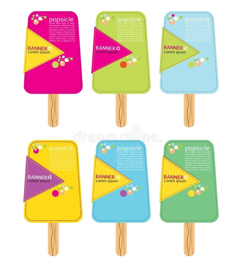 五颜六色的冰棍儿棍子。 皇族释放例证