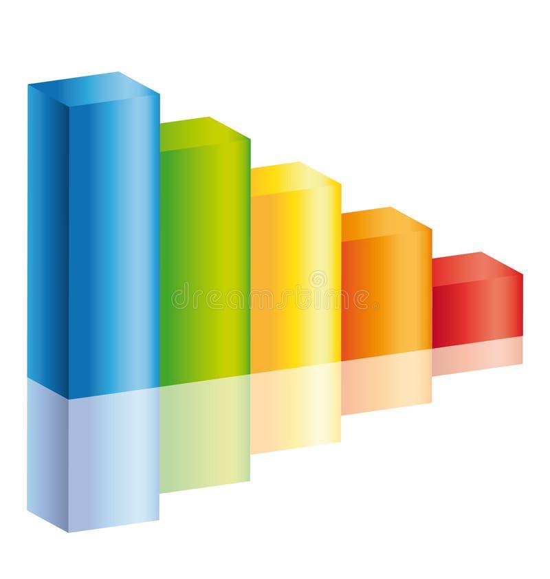 五颜六色的减少绘制图标棍子 向量例证