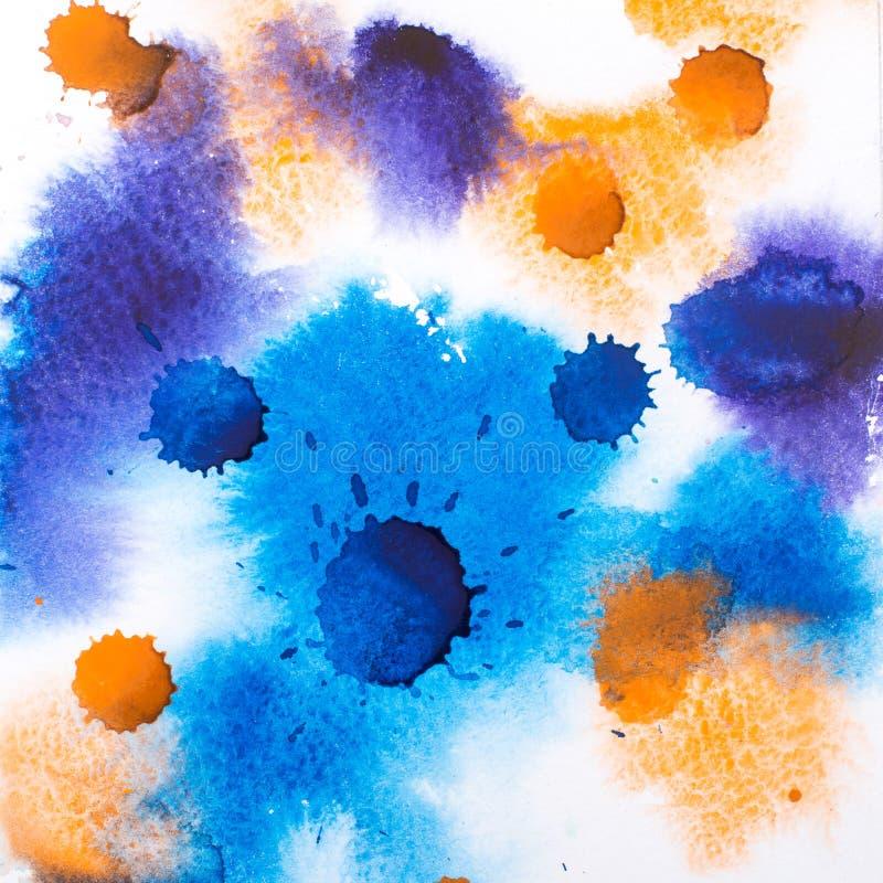 五颜六色的减速火箭的葡萄酒摘要水彩水彩画油漆 库存照片