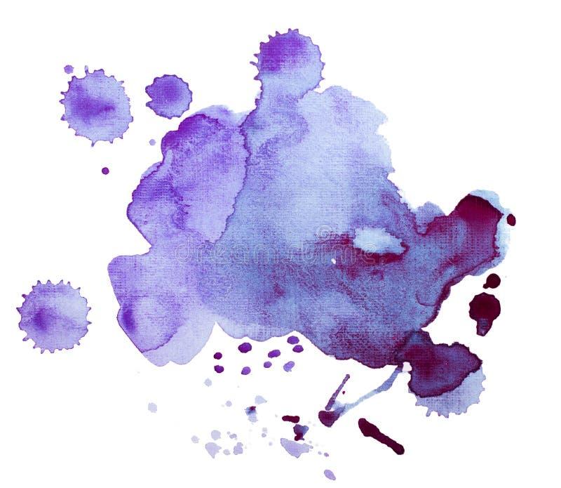 五颜六色的减速火箭的葡萄酒摘要水彩/水彩画艺术手油漆在白色背景 免版税图库摄影