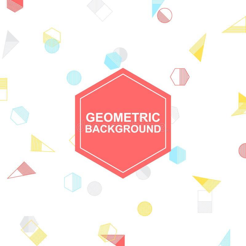 五颜六色的几何传染媒介、白色背景您的设计的和艺术品 库存图片