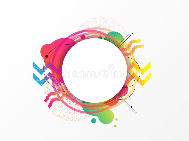 五颜六色的几何元素,抽象背景 向量例证