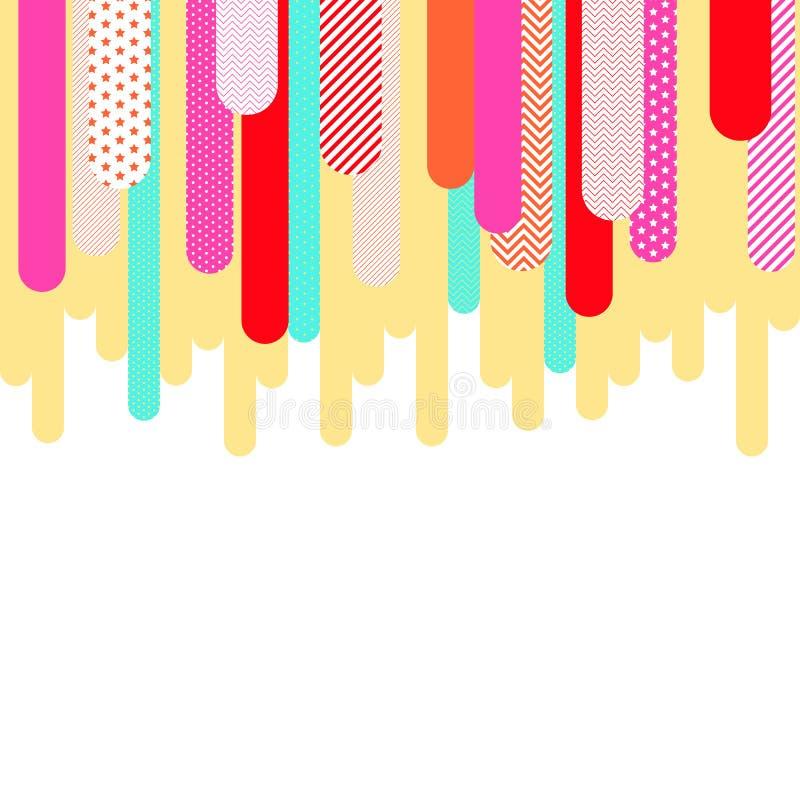 五颜六色的几何流行艺术背景 向量例证