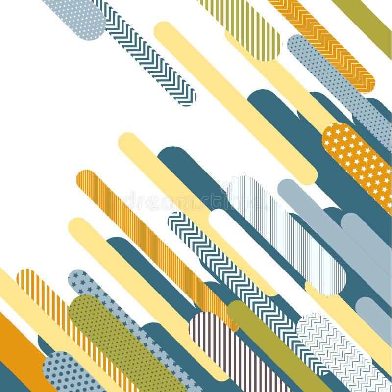 五颜六色的几何流行艺术背景 库存例证