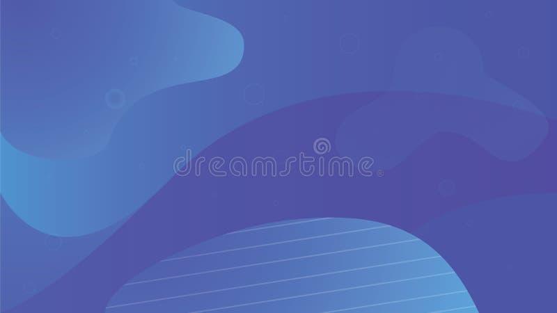五颜六色的几何背景设计 蓝色流体塑造与时髦梯度的构成 Eps10向量 五颜六色 皇族释放例证
