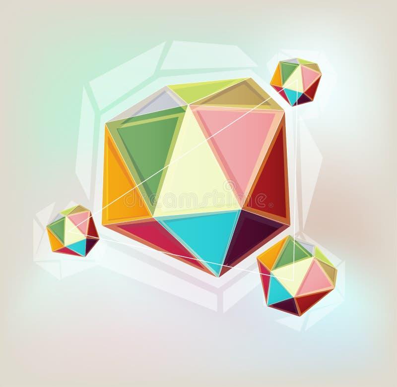 五颜六色的几何背景 库存例证