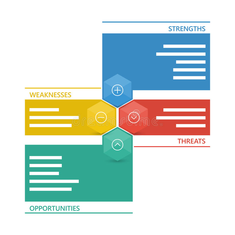 五颜六色的几何苦读者企业图图 库存例证