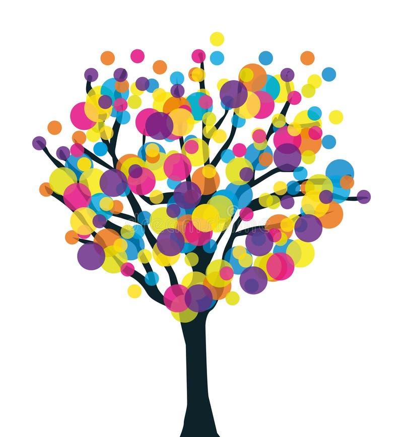 五颜六色的创造性的多产结构树 皇族释放例证