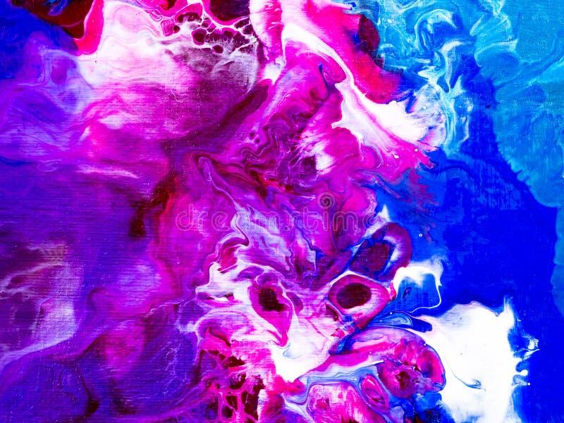 五颜六色的创造性的抽象手画背景,纹理, acr 库存例证