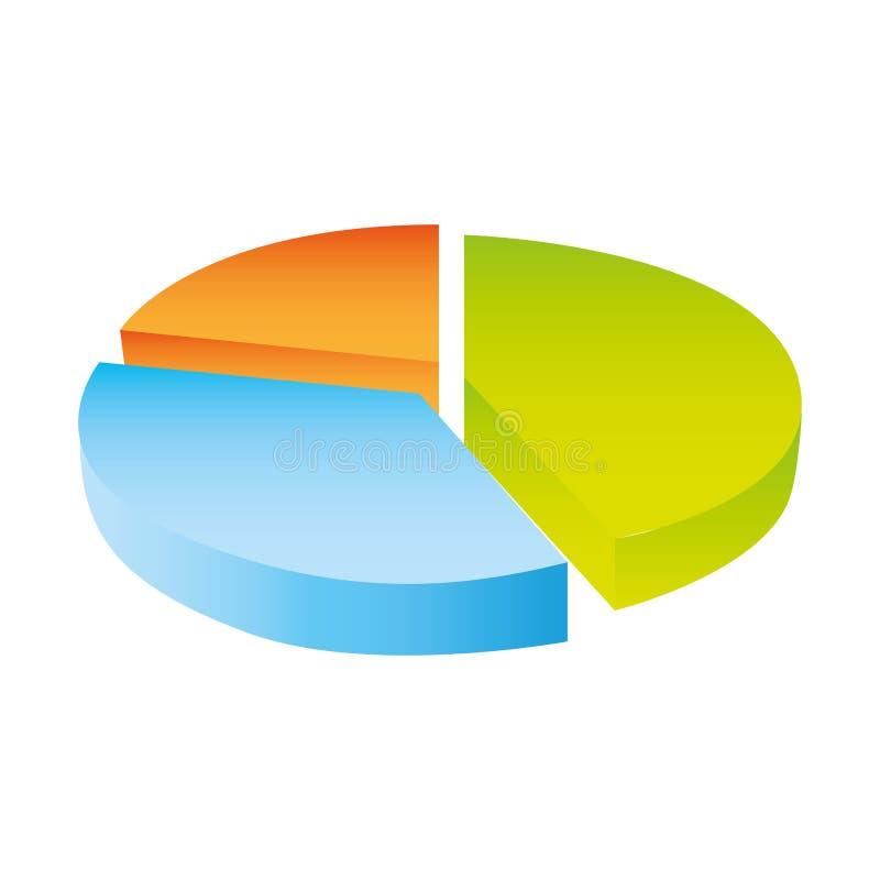 五颜六色的剪影圆统计图 向量例证
