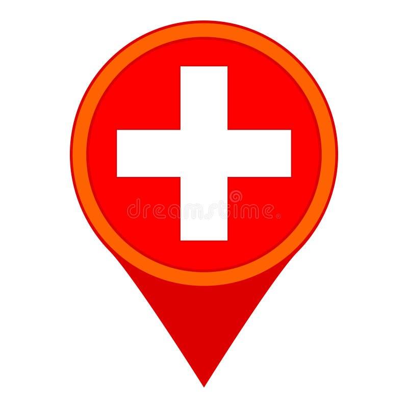 五颜六色的动画片医院地图标志 皇族释放例证