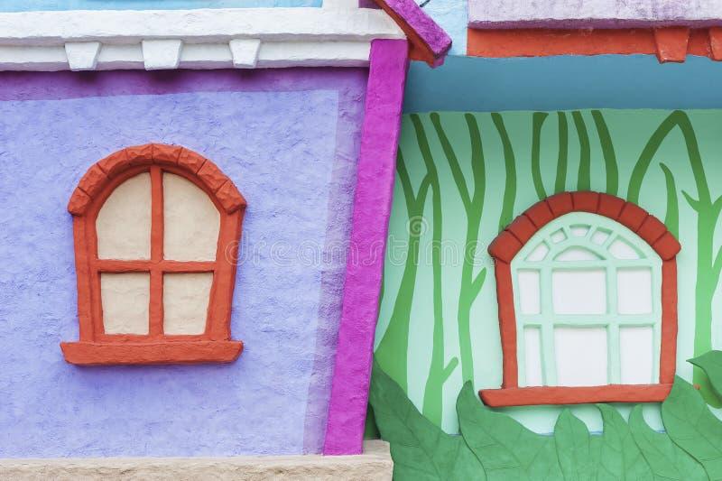 五颜六色的动画片房子 库存图片