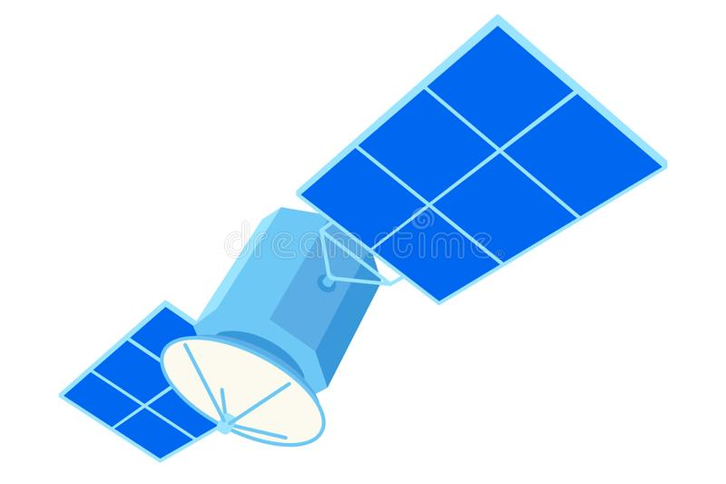 五颜六色的动画片通讯卫星 库存例证