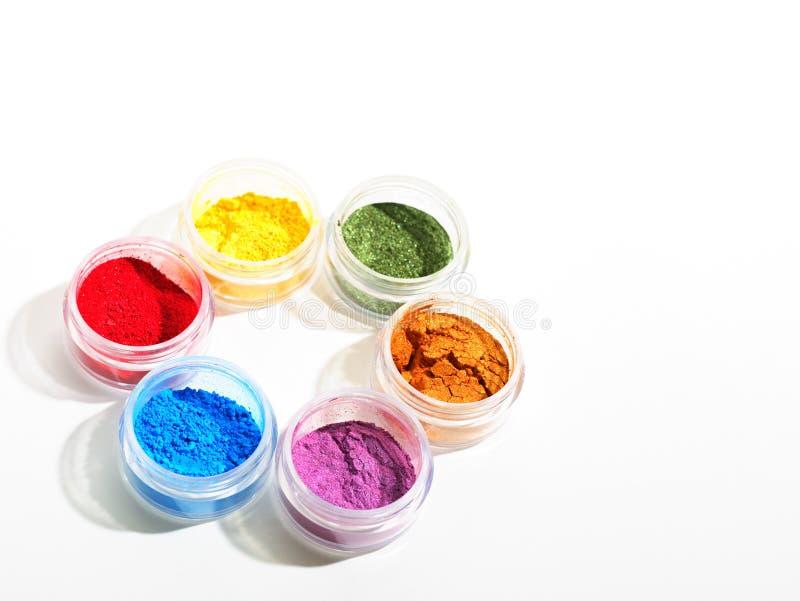 五颜六色的化妆用品 图库摄影