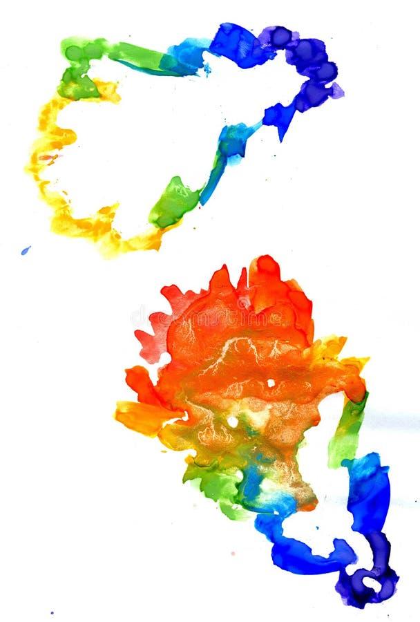 五颜六色的叶子橡木 皇族释放例证