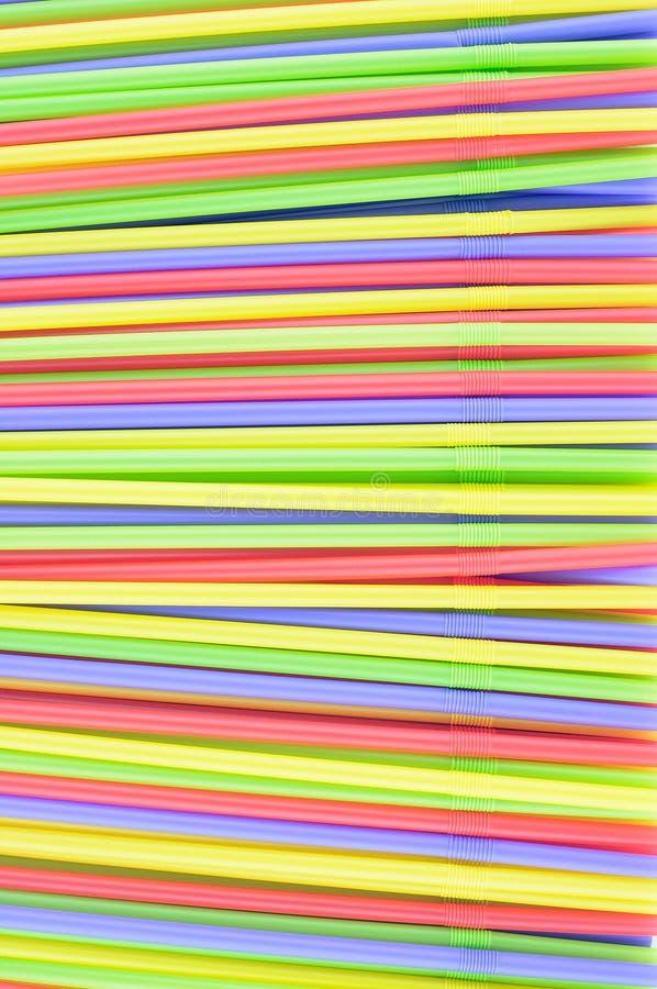 五颜六色的吸管 免版税库存照片