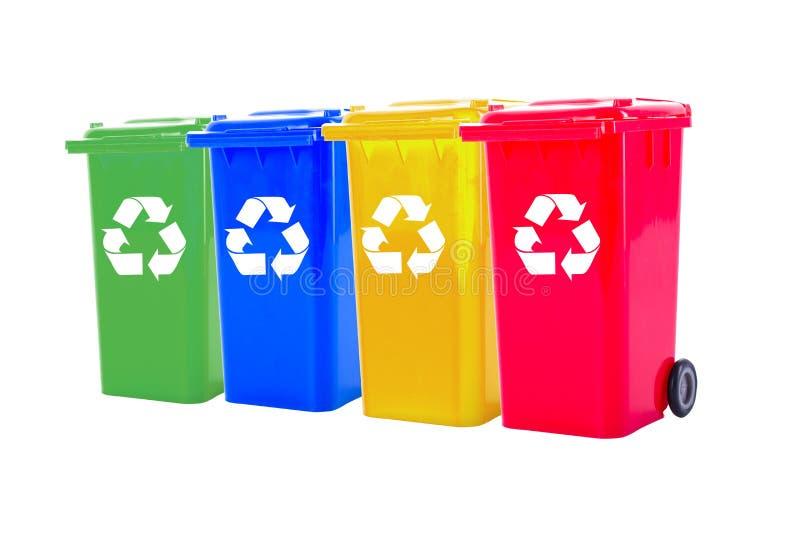 五颜六色的回收站 库存图片
