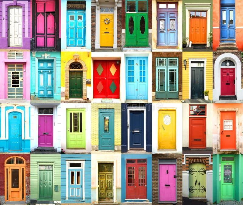 五颜六色的国际门拼贴画  免版税图库摄影