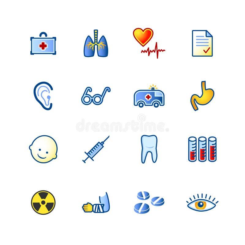 五颜六色的图标医学