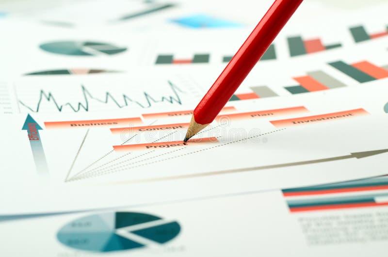 五颜六色的图表、图、市场研究和企业年终报告背景,管理项目,预算计划,财政 免版税库存图片