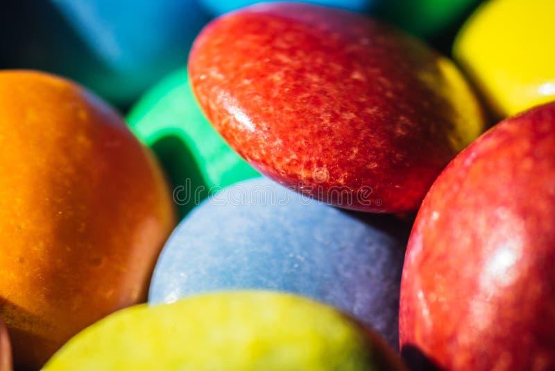 五颜六色的圆的糖果 库存图片